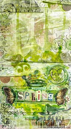 #spring #time @Joe Jonge Graham pages by Drycha.blogspot.com with 3rd Eye stamps: 3rdeyecraft.com