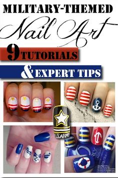 Tutorials, Expert Tips, Ideas and more for some awesome military inspired nails! Military Nails, Military Life, Mani Pedi, Manicure And Pedicure, Cute Nails, Pretty Nails, How To Do Nails, Hair And Nails, Nail Art Designs