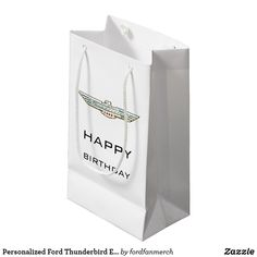 Personalized Ford Thunderbird Emblem / Logo Small Gift Bag #zazzle #mrtbird #thunderbird #fordclassiccars #1950s #classiccars #giftsformen