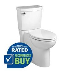American Standard Clean White 1.28-GPF (4.85-LPF) 12-in Rough-In WaterSense Elongated 2-Piece Chair Height Toilet
