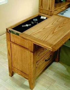 56 new Ideas hidden storage furniture secret compartment Hidden Gun Storage, Hidden Shelf, Secret Storage, Woodworking Plans, Woodworking Projects, Wood Projects, Woodworking Shop, Secret Compartment Furniture, Secret Hiding Places
