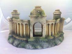 "Fish Tank Ornament Large Grecian Ruin 25cm £13.95   Aquarium Ornament  ""Large Grecian Ruin""  Approx 25cm Long 14cm High"