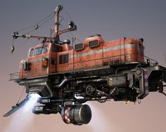 Скачать обои freightliner, поезд, механизмы, фантастика, раздел фантастика в разрешении 1280x1024