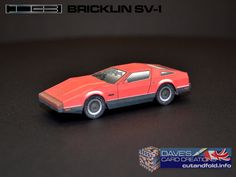 Bricklin SV-1 Paper Model by Dave Winfield - Dave's Card Creations © www.cutandfold.info
