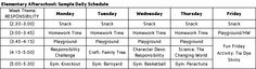 after school schedule - Google Search