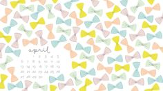 Our April 2014 desktop calendar is here! Created by Jordan Blaser for Nicole's Classes.
