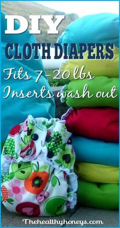 DIY cloth diaper: cloth diaper pattern - The Healthy Honeys