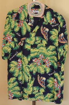 72354fb7 Details about LIMITED EDITION Reproduction Hawaiian Aloha Shirt by Sun Surf  Japan
