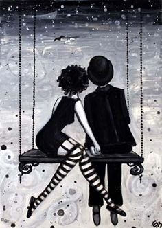 www.phantomwise.com  The author of The Night Circus is also a painter and painted a black and white tarot deck, like in the book.  As beautiful as the pictures her words paint