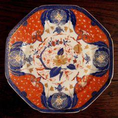 19th Century Imari Color Lunch Plates
