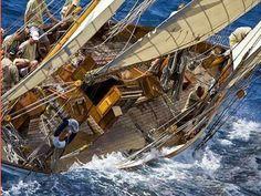 THAT's my type of sailing! Rolex Veteran Boat Rally in Porto Cervo, Sardina, Italy Sailboat Racing, Sail Racing, Classic Sailing, Classic Yachts, Classic Boat, Maria Alice, Sailing Adventures, Love Boat, Wooden Ship