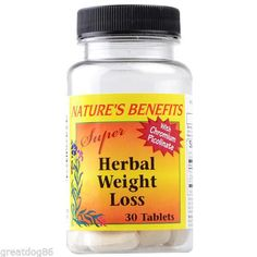 Nature's Benefits Super Herbal Weight Loss 30 Tablets with Chromium Picolinate!@