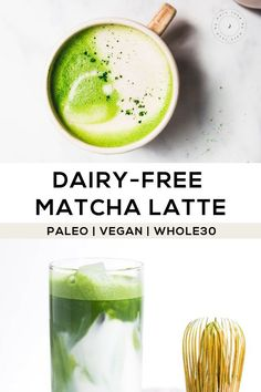 5 Tips for How To Make The Best Matcha Latte plus my favorite matcha latte recipe (dairy-free) you can make at home! (includes an iced matcha latte recipe) Milk Recipes, Real Food Recipes, Whole30 Recipes, Healthy Recipes, Coconut Recipes, Vegetarian Recipes, Healthy Smoothies, Healthy Drinks, Healthy Eats