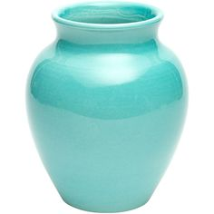 Gracious Home Turquoise Large Vase (105 CAD) ❤ liked on Polyvore featuring home, home decor, vases, turquoise home decor, turquoise vase, handmade home decor and turquoise home accessories