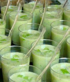 Recette verrines concombre, lait de coco et coriandre