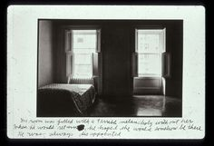 Duane Michals (b.1932) - Person to Person (Frame 7), 1974 |  His room was filled with a terrible melancholy without her. When he would return, he hoped she would somehow be there. He was always disappointed.