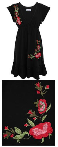 Red Rose Cascade Dress - Each purchase funds 50 cups of food for those in need