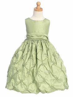 A pretty celadon green flower girl dress :)