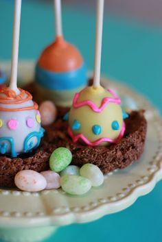 Easter Egg decorated cake balls