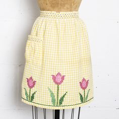 50s Tulip Apron Yellow  by Unknown  @ Bogart & Moore
