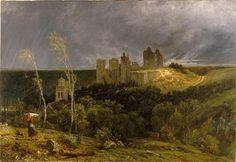 Ruines du château de Pierrefonds, Paul Huet