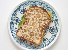 delft porcelain patterned sandwich