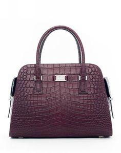 Michael Kors Handbags Sale Gia Embossed Satchel Blackberry