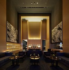 Kerry Hill Architects offers a sensitive interpretation of traditional Japanese architecture in this delightfully dramatic and welcoming hotel. Lobby Interior, Luxury Interior, Modern Interior Design, Interior Architecture, Japanese Architecture, Hotel Lobby Design, Le Riad, Hotel Lounge, Lobby Lounge