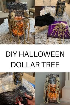 Dollar Tree Halloween Decor, Halloween Vase, Dollar Store Halloween, Scary Halloween Decorations, Cheap Halloween, Halloween Crafts For Kids, Halloween Witches, Halloween Projects, Halloween Halloween