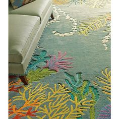 COMPANY C TO-BAY-GO RUG - Bring the vision of a tropical resort indoors with this wonderful objet d'art.