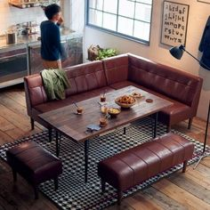 16 Trendy Kitchen Table For Small Spaces Ideas Kitchen Wall Storage, Kitchen Decor, Table For Small Space, Small Spaces, Small Kitchen Redo, Kitchen Island With Seating, Built In Seating, Small Sofa, Dining Nook