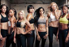 First look at the new Nike Women + Annie Leibovitz campaign! (L-R) Hope Solo Allyson Felix Laura Enever Li Na Sofia Boutella Maria Sharapova Perri Shakes-Drayton Annie Leibovitz, Sport Motivation, Fitness Motivation, Motivation Wall, Exercise Motivation, Fitness Quotes, Daily Motivation, Anuncio Nike, Nike Md Runner 2
