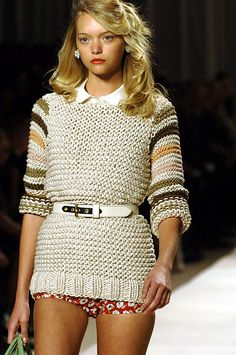 Gemma Ward--Colors in this sweater!