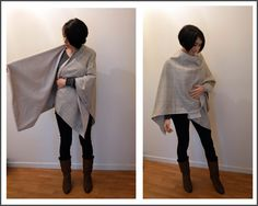 Funky Sunday: Tuto-seam: The free pattern of the poncho cape must be translated but very good