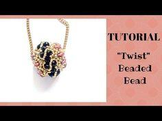 TUTORIAL PERLINE [18] - Chicca Bead, sfera rivestita con perline. (Beaded Bead tutorial) - YouTube