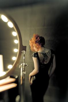Light, backstage. Theatre, redhead,
