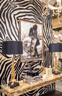 Unique zebra print wall treatmentsYou can find Zebra print and more on our website. Animal Print Furniture, Animal Print Decor, Animal Prints, Zebra Print Walls, Zebra Print Bedroom, Leopard Print Bedding, Home Interior Design, Interior Decorating, Luxury Interior