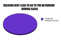 Hahah I need to share this with my class, because this is what I used to do in bathrooms. Well I still look for it!!