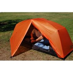 Paha Que Wilderness Bear Creek Solo 1 Person Backpacking Tent (BurntOrange, 84 x 32 x 36-Inch)