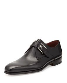 brand new fd7ab 1aceb TOM FORD Edwin Double-Monk Strap Loafer, Dark Brown. Leather Single  Monk-Strap Shoe, Black ...