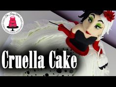 Disney's 101 Dalmatians Cruella de Vil Dress Cake - How To With The Icing Artist - YouTube