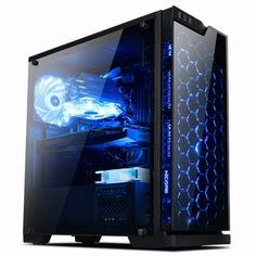 034-NEW-034-ABKO-SAPPHIRE-Tempered-Glass-amp-Acrylic-Computer-Case-034-034-FREE-amp-TRACK-034