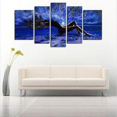 'Into The Night' - 5 Piece Canvas Art