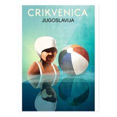 #Crikvenica Yugoslavia vintage travel postcard - #travel #trip #journey #tour #voyage #vacationtrip #vaction #traveling #travelling #gifts #giftideas #idea