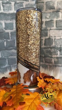 Diy Tumblers, Custom Tumblers, Glitter Cups, Gold Glitter, Tooled Leather, Leather Tooling, Disney Font Free, Tumblr Cup, Diy Wine Glasses