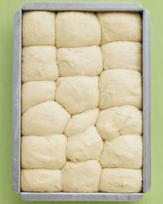 No-Knead Dinner Rolls | Even beginner-level bakers will have no trouble making these fluffy rolls; the dough can be prepped, put in the pan, and chilled up to a day ahead,,
