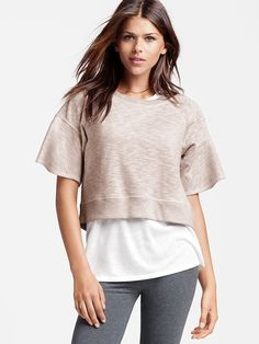 c9699b31083 Marled Boxy Pullover - French Terry - Victoria s Secret French Terry