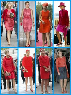 Queen Maxima, lady in red