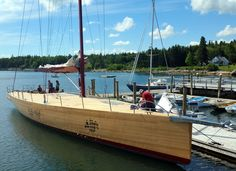 70ft wooden frers yacht - for Frank Gehry