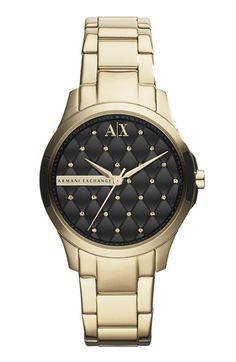 Women's AX Armani Exchange Quilted Dial Bracelet Watch, 36mm (Online Only)